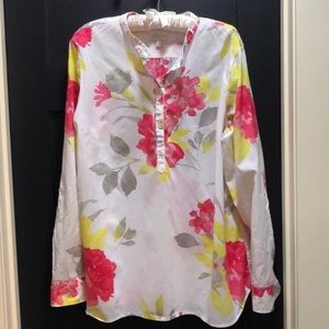 Talbots Floral Cotton Tunic Size XL